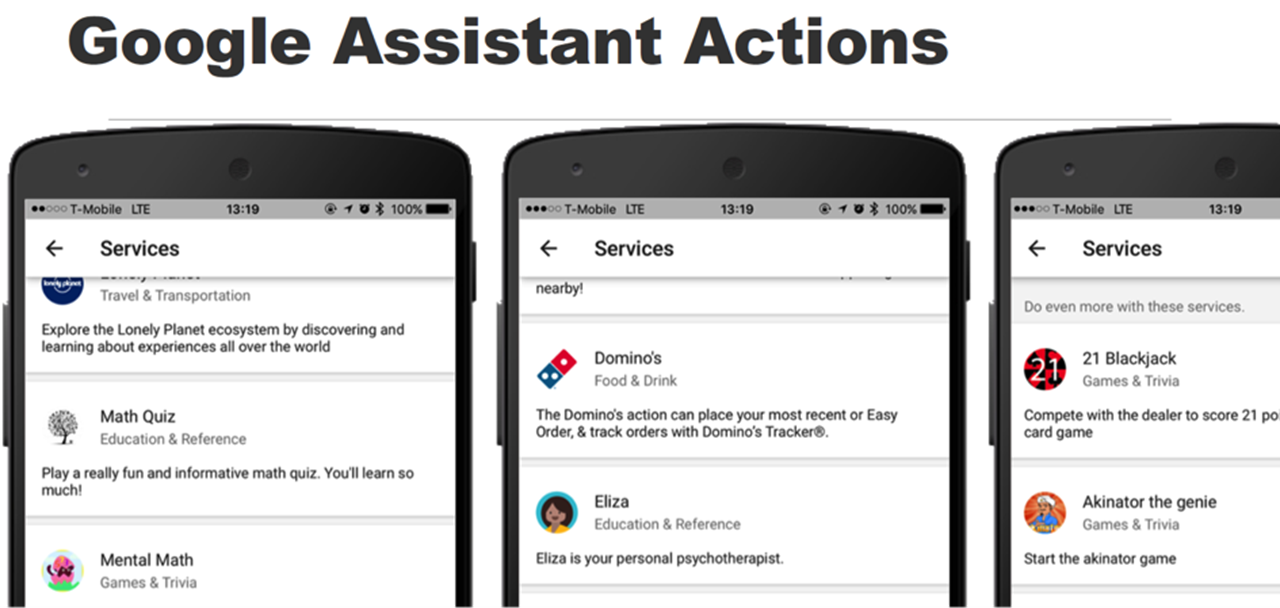 Google Place Actions Assistant