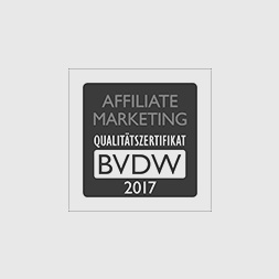 BVDW Affiliate Marketing Trusted Agency 2017 Zertifikat